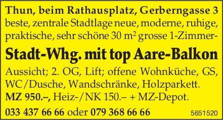 1 Zimmer-Stadt-Whg. mit top Aare-Balkon, Thun, zu vermieten