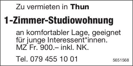 1-Zimmer-Studiowohnung, Thun,  zu vermieten