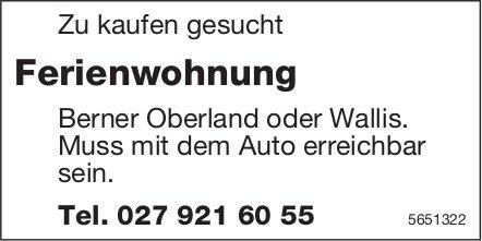 Ferienwohnung Berner Oberland oder Wallis, zu kaufen gesucht