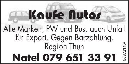 Thun - Kaufe Autos - Alle Marken, PW und Bus, auch Unfall für Export.