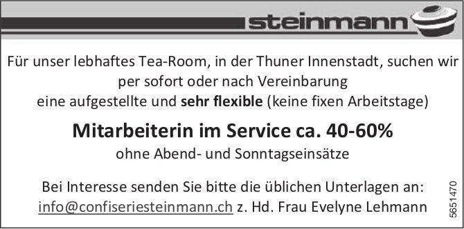Mitarbeiterin im Service ca. 40-60%, Confiserie Steinmann AG, Thun,  gesucht