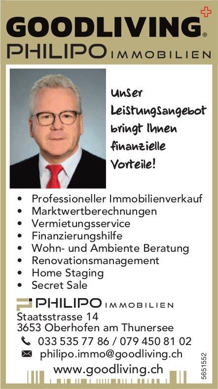Goodliving Philipo Immobilien, Oberhofen am Thunersee - Unser Leistungsangebot bringt Ihnen finanzielle Vorteile!