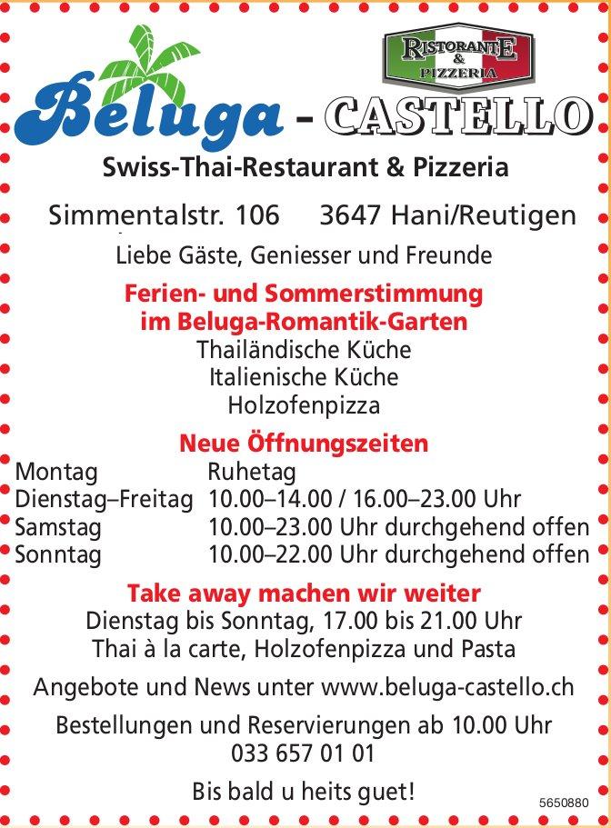 Beluga-Castello Swiss-Thai-Restaurant & Pizzeria - Ferien- und Sommerstimmung im Beluga-Romantik-Garten
