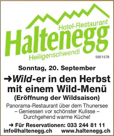Hotel-Restarant Haltenegg - Wild-er in den Herbst mit einem Wild-Menü