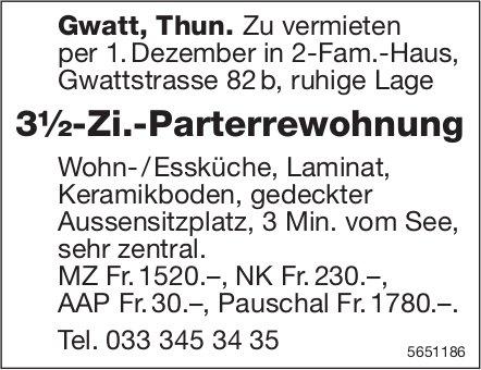 3½-Zi.-Parterrewohnung, Gwatt/Thun, zu vermieten