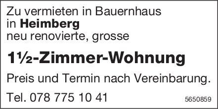 1½ Zimmer-Wohnung, Heimberg, zu vermieten