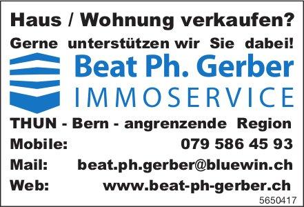 Beat Ph. Gerber Immoservice, Bern - Haus/Wohnung verkaufen? Gerne unterstützen wir Sie dabei!