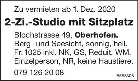 2-Zi.-Studio mit Sitzplatz, Oberhofen, zu vermieten