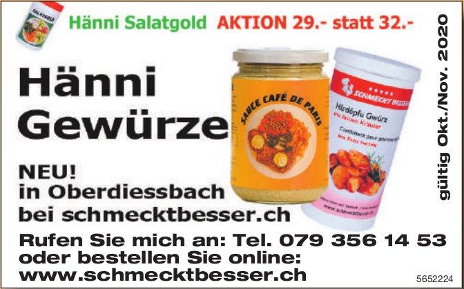 Hänni Gewürze - Neu! in Oberdiessbach