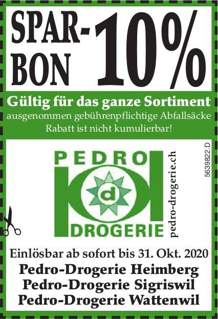 Pedro Drogerie, Heimberg, Sigriswil & Wattenwil - Spar-Bon 10%