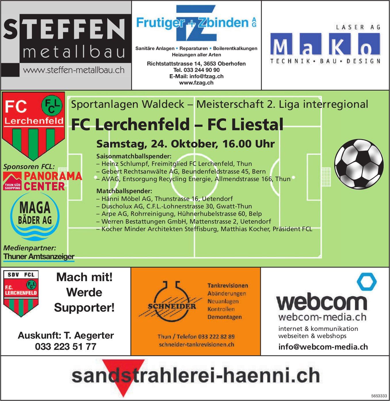 Meisterschaft 2. Liga interregional - FC Lerchenfeld–FC Liestal, 24. Oktober
