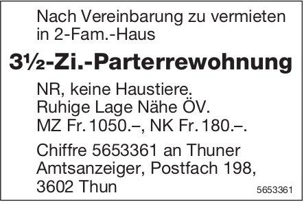 3½-Zi.-Parterrewohnung, Thun, zu vermieten