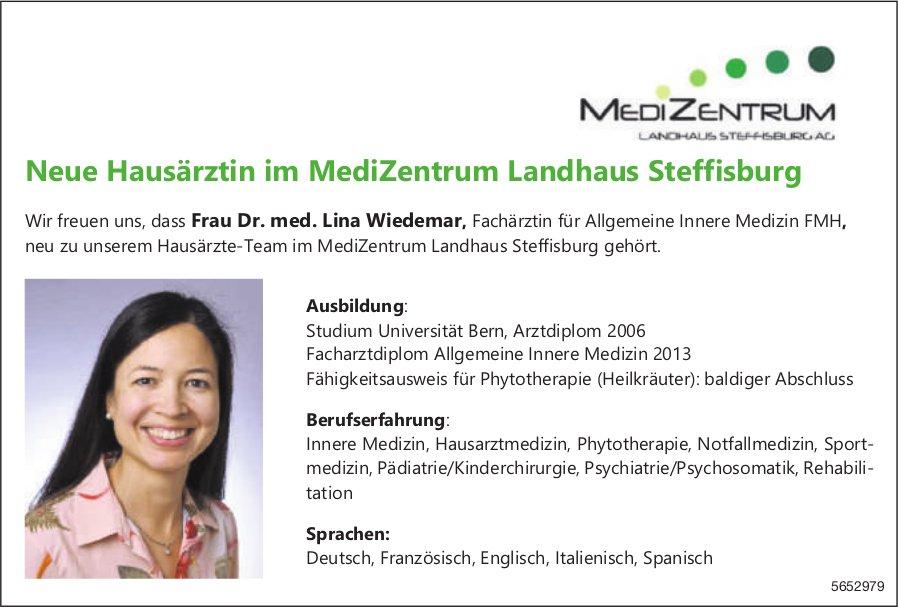 Medi Zentrum, Bern - Neue Hausärztin im MediZentrum Landhaus Steffisburg, Frau Dr. med. Lina Wiedemar