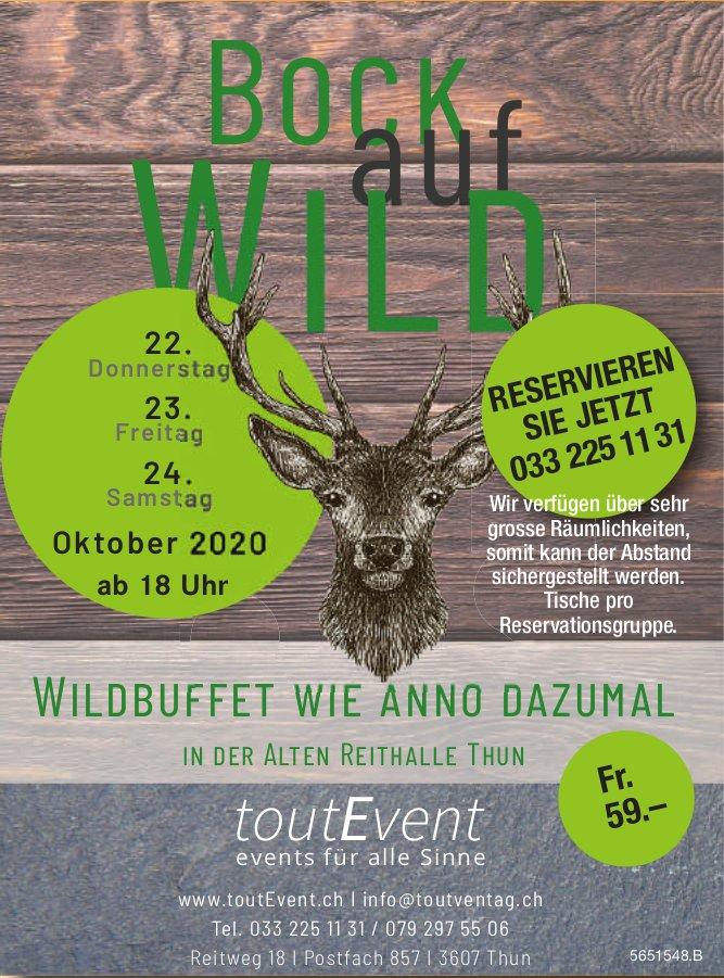 Wildbuffet wie anno dazumal, 22. bis 24. Oktober, Thun