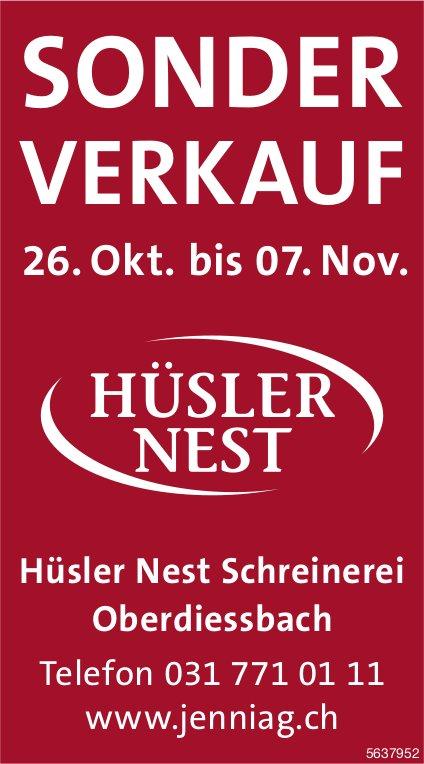 Sonder-Verkauf, 26. Oktober - 7. November, Hüsler Nest Schreinerei, Oberdiessbach