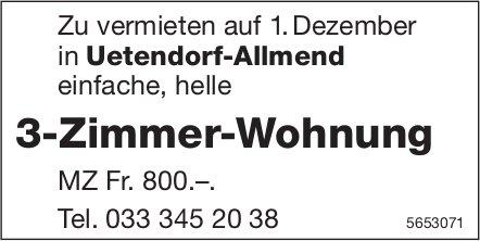 3-Zimmer-Wohnung, Uetendorf-Allmend, zu vermieten