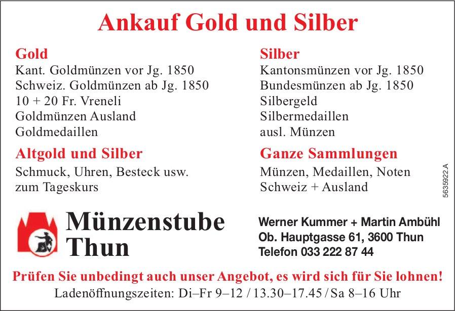 Münzenstube Thun,  Thun - Ankauf Gold und Silber