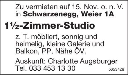 1½-Zimmer-Studio, Schwarzenegg, zu vermieten