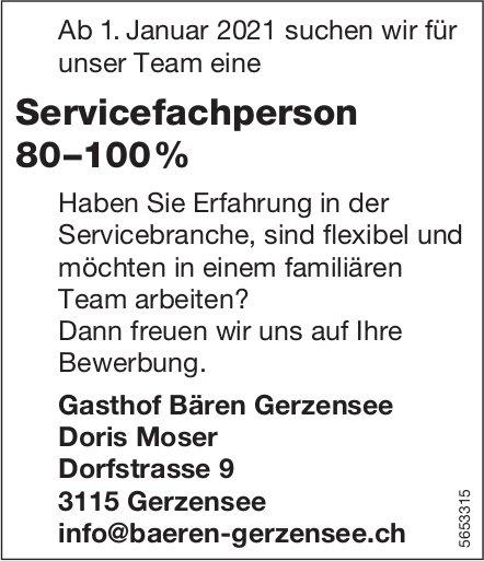 Servicefachperson 80–100%, Gasthof Bären Gerzensee, gesucht