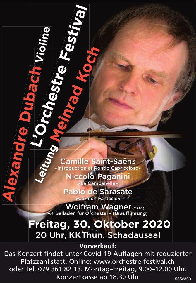 Konzert L'Orchestre Festival, Leitung Meinrad Koch, 30. Oktober