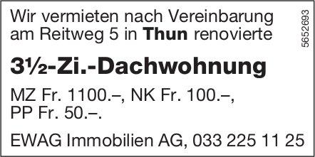 3½-Zi.-Dachwohnung, Thun, zu vermieten