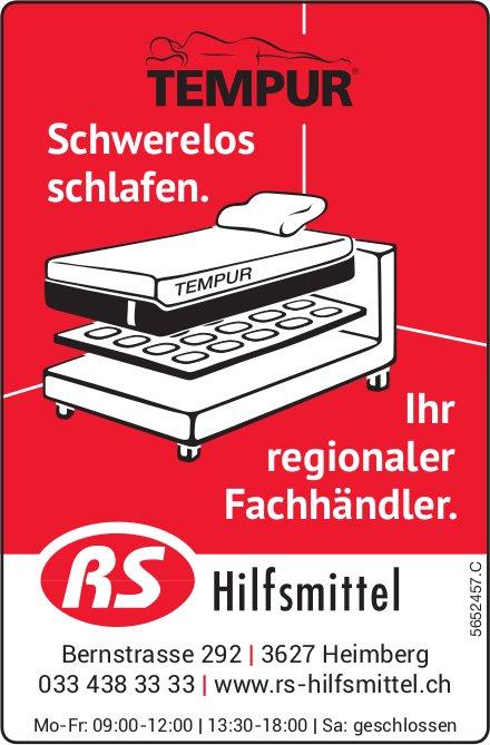 RS Hilfsmittel, Heimberg - Schwerelos schlafen. Ihr regionaler Fachhändler.