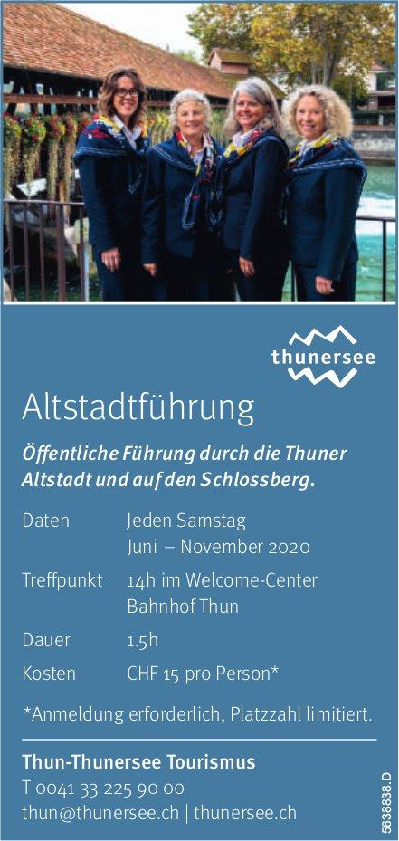 Thun-Thunersee Tourismus - Altstadtführung Jeden Sa. Juni–Nov. 2020