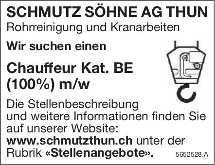 Chauffeur Kat. BE (100%) m/w, SCHMUTZ SÖHNE AG, Thun, gesucht