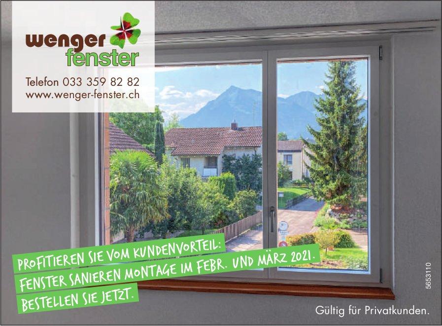 Wenger Fenster - Profitieren Sie vom Kundenvorteil