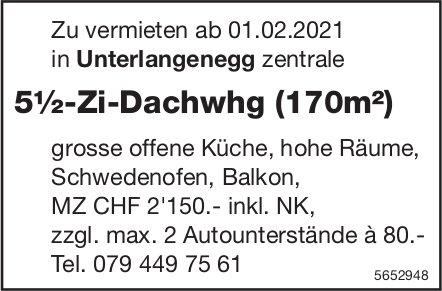 5½-Zi-Dachwhg (170m²), Unterlangenegg, zu vermieten