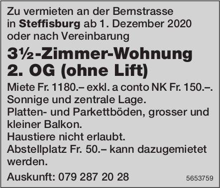 3½-Zimmer-Wohnung 2. OG (ohne Lift), Steffisburg, zu vermieten