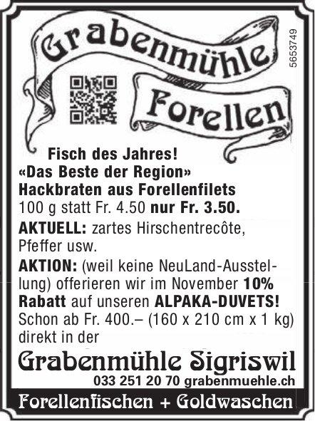 Grabenmühle Sigriswil - Grabenmühle Forellen