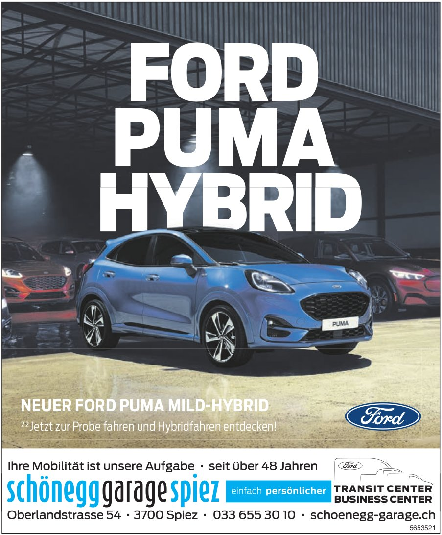 Schoenegg Garage, Spiez - Ford Puma Hybrid