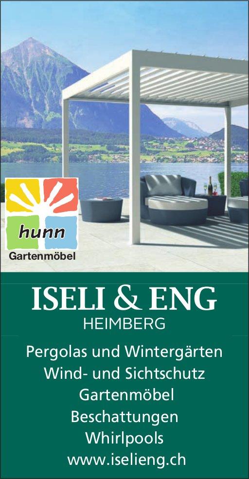 Iseli & Eng - Pergolas und Wintergärten, Wind- und Sichtschutz, Gartenmöbel, Beschattungen, Whirlpools