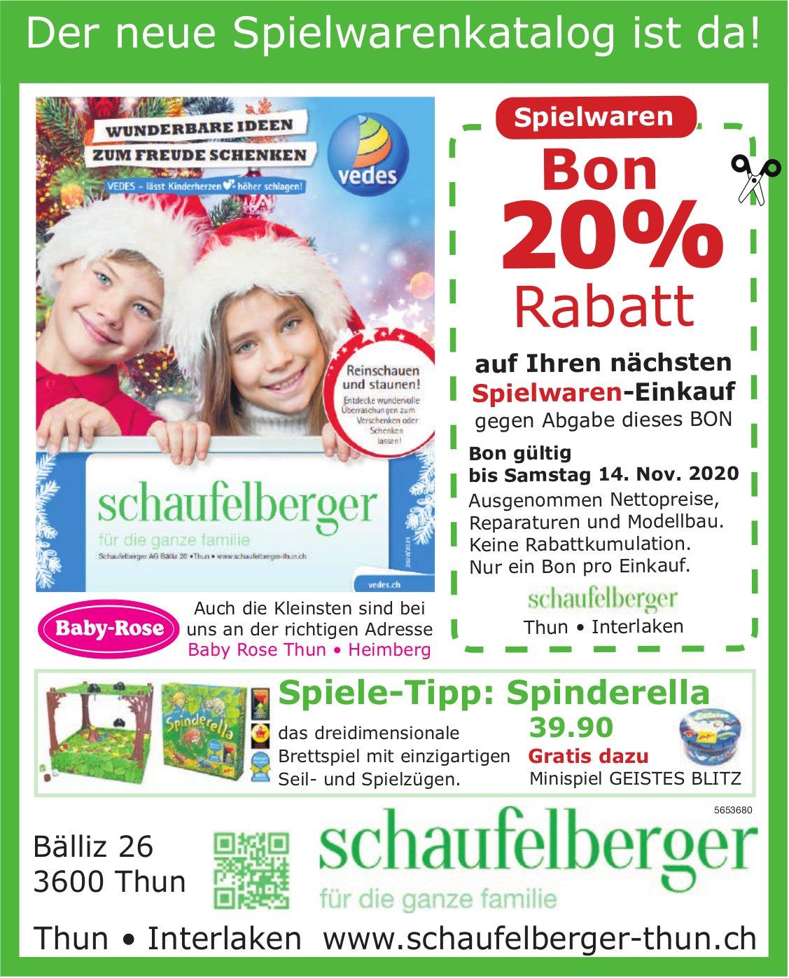 Schaufelberger, Thun & Interlaken - Der neue Spielwarenkatalog ist da!