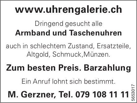 Uhren Galerie M. Gerzner -  Dringend gesucht alle Armband und Taschenuhren