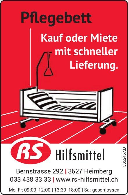 RS Hilfsmittel, Heimberg - Pflegebett: Kauf oder Miete mit schneller Lieferung