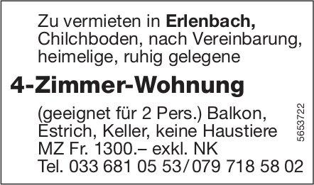 4-Zimmer-Wohnung, Erlenbach, zu vermieten