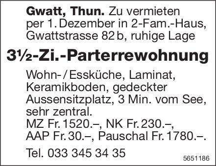 3½-Zi.-Parterrewohnung, Gwatt / Thun, zu vermieten