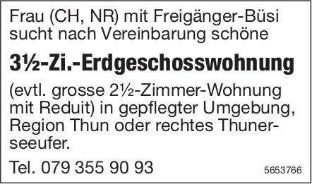3½-Zi.-Erdgeschosswohnung, Region Thun, zu mieten gesucht