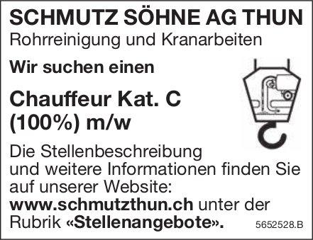 Chauffeur Kat.C (100%) m/w, Schmutz Söhne AG, Thun, gesucht