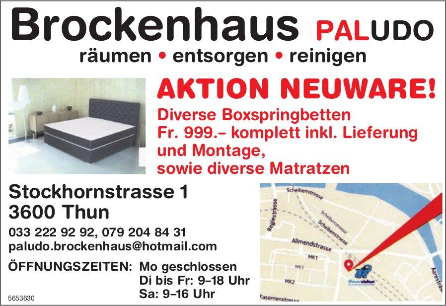 Brockenhaus Paludo, Thun - Aktion Neuware!