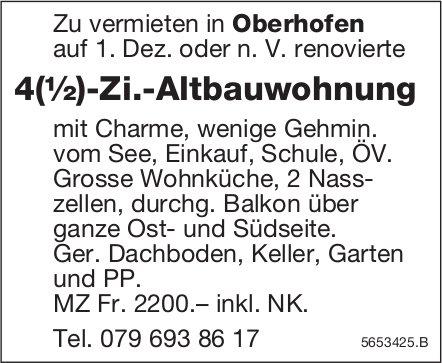 4(½)-Zi.-Altbauwohnung, Oberhofen, zu vermieten