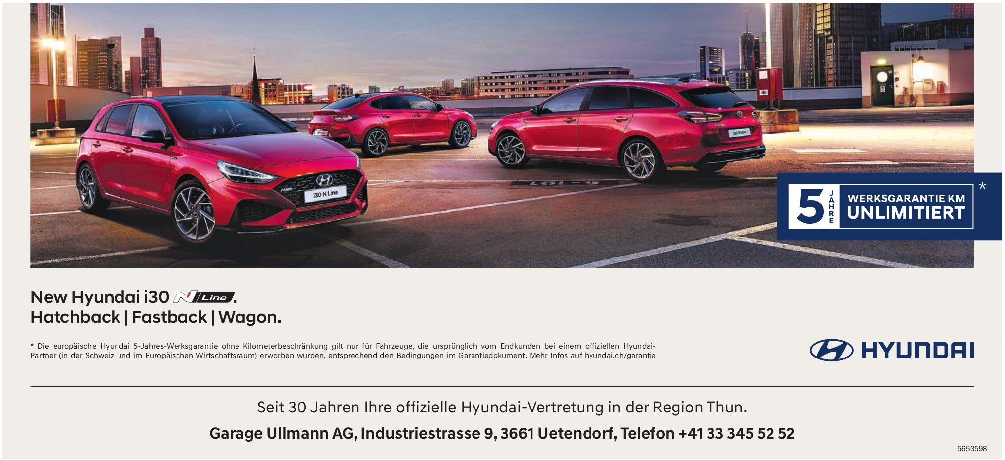 Garage Ullmann AG, Uetendorf - New Hyundai i30 . Hatchback | Fastback | Wagon.