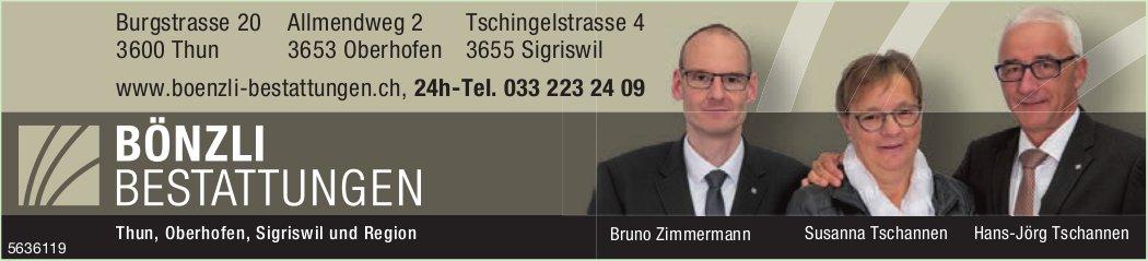 Bönzli Bestattungen - Thun, Oberhofen, Sigriswil und Region