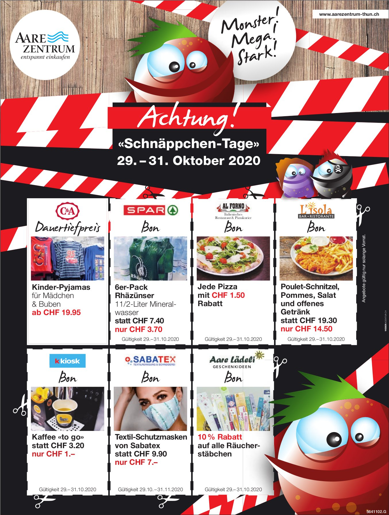 Achtung! «Schnäppchen-Tage», 29. Oktober, Thun