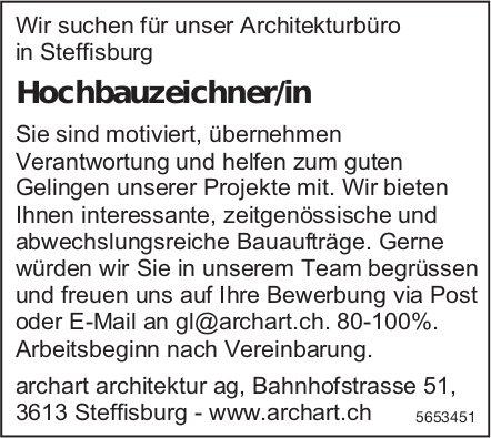 Hochbauzeichner/in, archart architektur ag, Steffisburg, gesucht