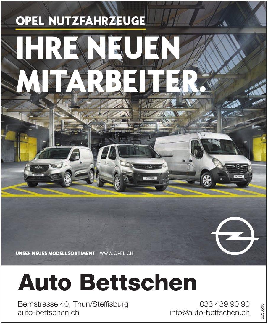 Auto Bettschen - Opel Nutzfahrzeuge: Ihre neuen Mitarbeiter.