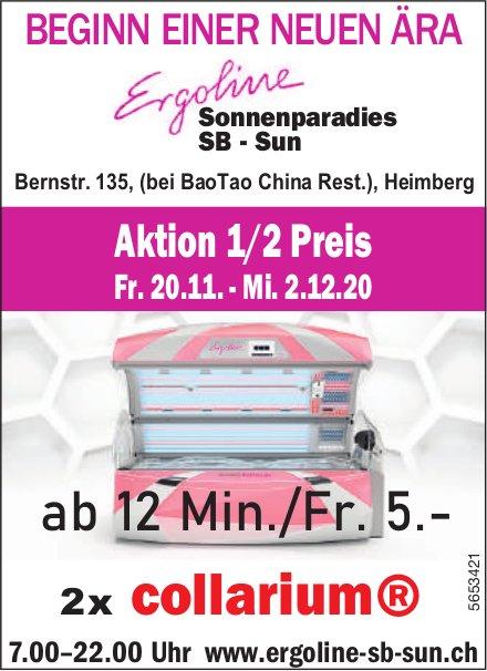 Ergoline SB Sun - Beginn einer neuen Ära Ergoline, Aktion 1/2 Preis, ab 20. November, Heimberg