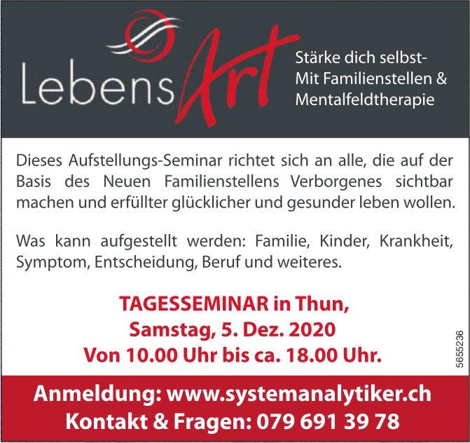 Lebens Art - Tagesseminar in Thun, 5. Dezember